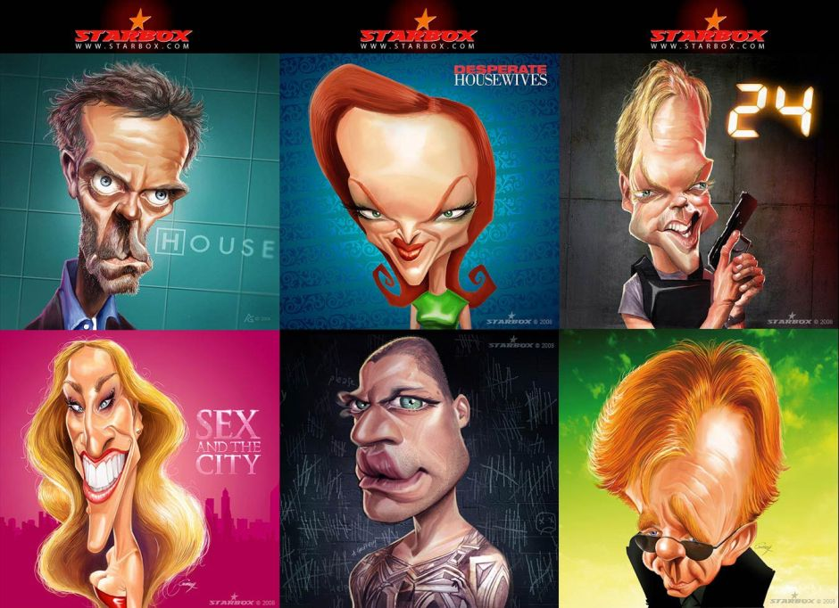 Caricatures-seeries-TV