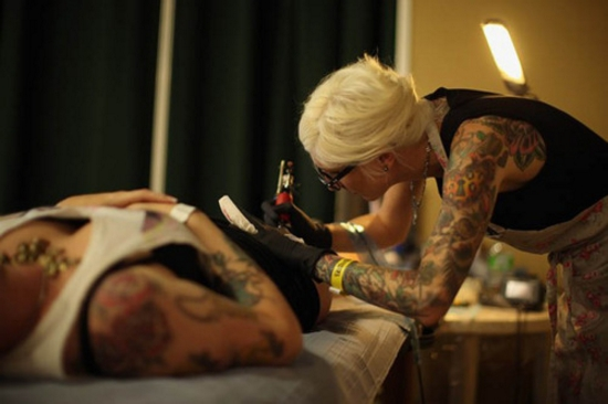 Tattoo Enthusiasts Enjoy The UK's Biggest Tattoo Convention At The Tattoo Jam
